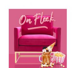 On Fleek graphic pink velvet chair