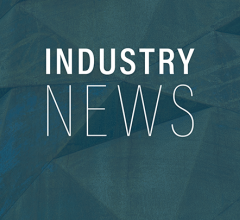 Industry news text on green background