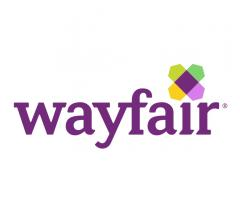 Wayfair e-commerce logo with purple text