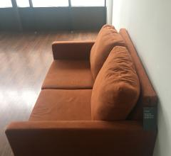 Campaign Living love seat in burnt orange