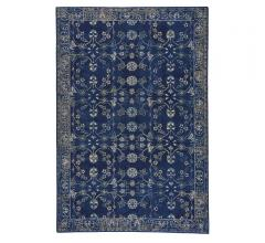 Keshan Area Rug in navy with a traditional motif from Capel Rugs