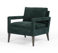 Olson chair in velvet dark green from Four Hands