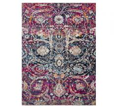 Silvia Area Rug in fushia, blue and gray from Loloi Rugs