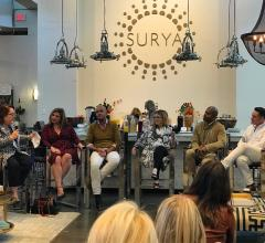 Panel discussion in Surya's High Point Market showroom