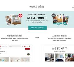 Pinterest X West Elm home page