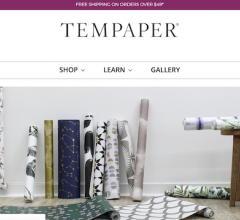 Tempaper new e-commerce website