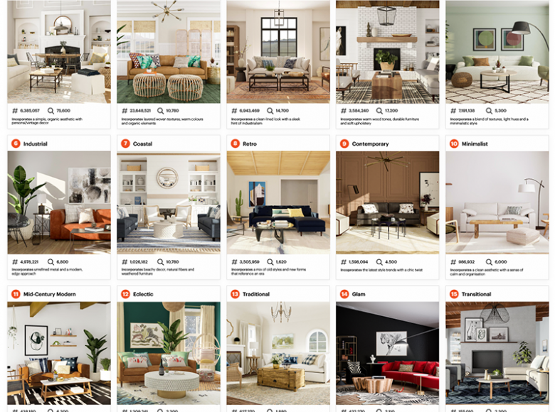 Top 15 interior design trends on instagram from Modsy