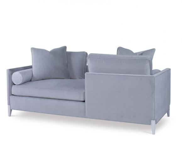 Sweet Nothings gray Sofa with gray legs and round lumbar pillows from Chaddock