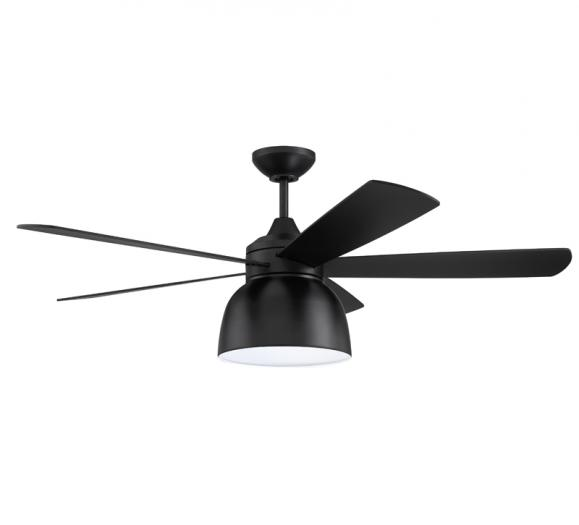 Ventura black ceiling fan with LED light kit from Craftmade