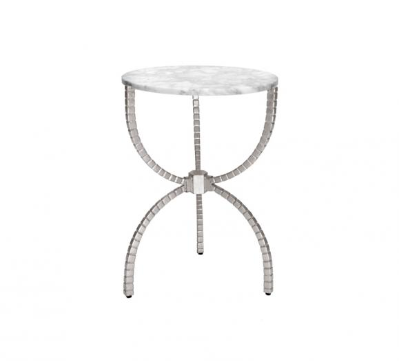 Worlds Away Cleveland side table