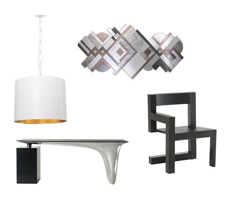 lamp, desk, chair and mirror from idea board