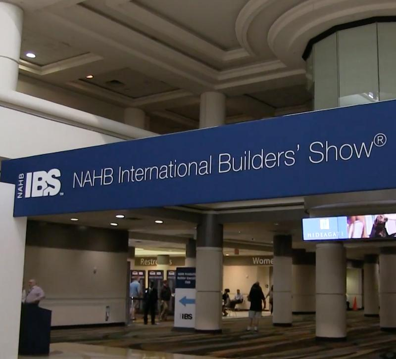 The inside lobby of the International Builders Show