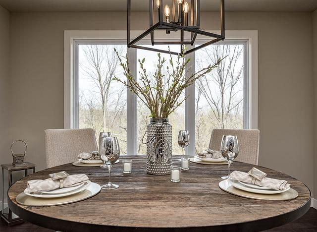 Hang A Chandelier Over Dining Table