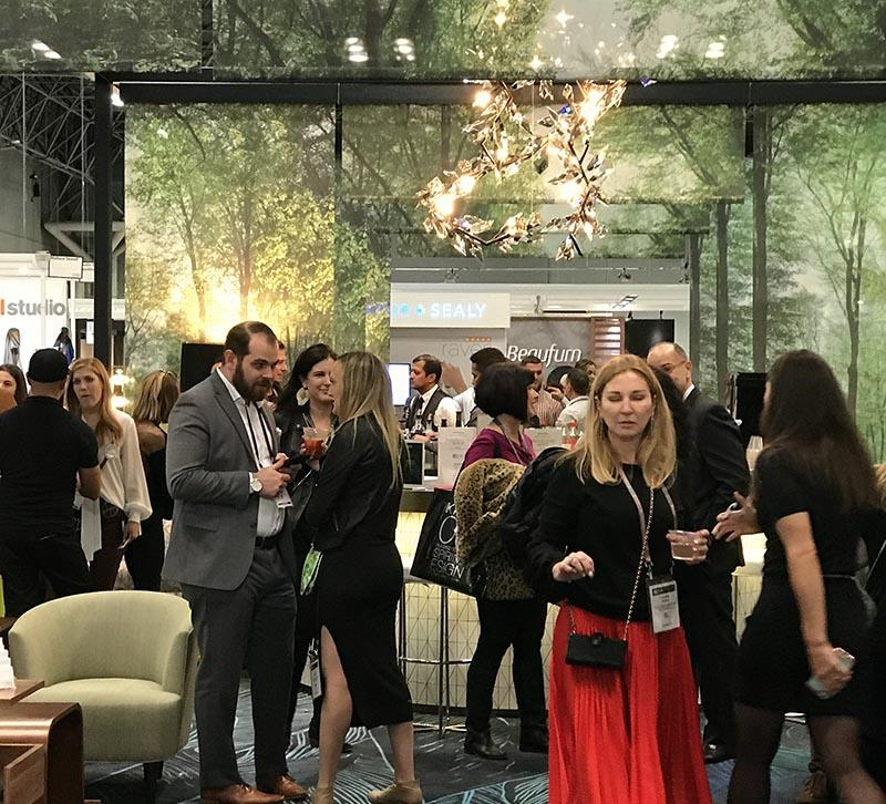 Attendee Gathering Space at BDNY