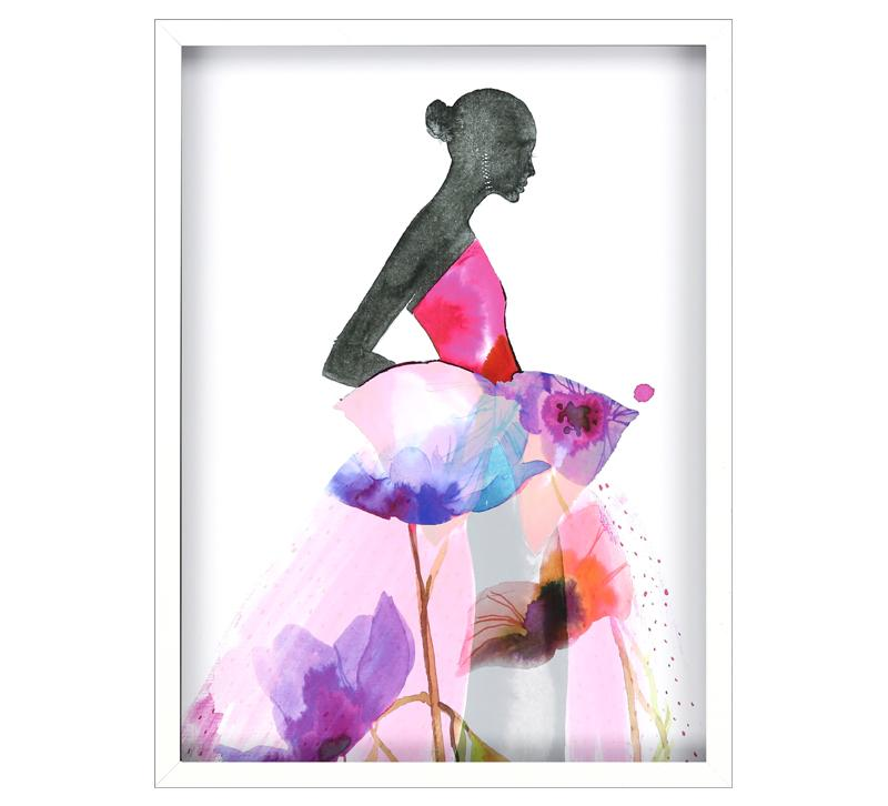 Paragon Floral Ball Gown Wall Art