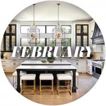 Cover image with the word February across it